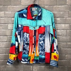 Parsley & Sage colorful patch style shirt/jacket